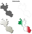 Caltanissetta blank detailed outline map set vector image vector image