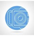 Camera blue round icon vector image vector image