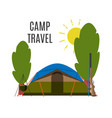 campsite place in forest vector image vector image