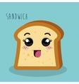 cartoon sandwich bread design isolated vector image vector image