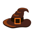 closeup of icon of witch hat vector image vector image