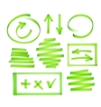 Collection of highlighter elements vector image vector image