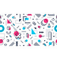colorful memphis style seamless pattern abstract vector image