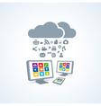 copmutre desktop table pc media social icon set vector image vector image
