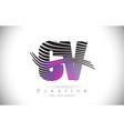 cv c v zebra texture letter logo design vector image vector image