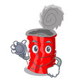 doctor tin can shape on a cartoon vector image vector image