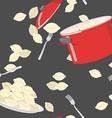 Dumplings pattern seamless Casserole with vector image