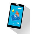 email a message on cell phone vector image vector image