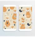 fox concept design vector image vector image