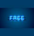 free neon banner element market offer present vector image vector image