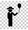 gentleman with balloon icon vector image vector image