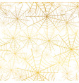 gold white spiderweb halloween seamless vector image
