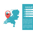 hague map infographic vector image vector image