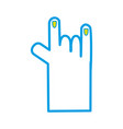 hand with finger sign and nails design vector image vector image