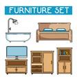 home furniture design vector image