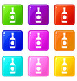 japanese sake set 9 vector image vector image