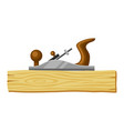 jointer and wood plank for forestry vector image