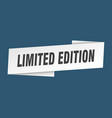 limited edition banner template limited edition vector image vector image