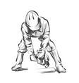 line sketch construction worker vector image