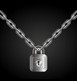 lock on chains vector image