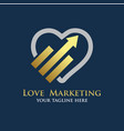 love marketing logo designs vector image vector image