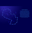 map paraguay from the contours network blue vector image vector image