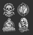 mexican day dead vintage labels vector image vector image