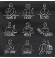 Monochrome Hand Drawn People Occupation on vector image vector image