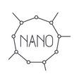 nano molecular structure monochrome silhouette vector image