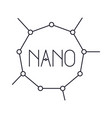 nano molecular structure monochrome silhouette vector image vector image