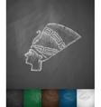 Nefertiti icon vector image