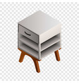 night stand icon isometric style vector image vector image
