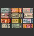 oktoberfest beer festival ticket templates vector image vector image