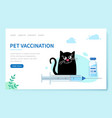 pet vaccination happy cat sitting vector image