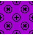 Plus web icon flat design Seamless pattern vector image