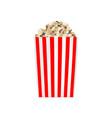 popcorn striped box mockup realistic style vector image vector image