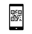 qr code icon vector image