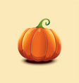 realistic pumpkin isolated on light vector image