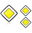 road sign vector image