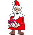 santa claus cartoon character on christmas time vector image vector image