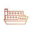 sea transportation logistic freight shipping cargo vector image