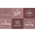 Set of Wedding Love Elements Merry Me can be used vector image vector image