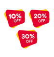 set red discount label for sale - design of vector image