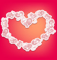shape of a heart with cute cat ornament vector image