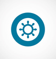 ship wheel bold blue border circle icon vector image vector image
