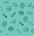 skateboard spare parts pattern vector image vector image