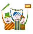 sport fans in striped clothing with bat scarf and vector image vector image