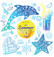 summer holidays watercolor banners with tropical vector image vector image