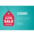Super sale banner with offer sticker vector image vector image