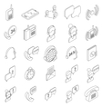 Support service icons set isometric 3d style vector image vector image